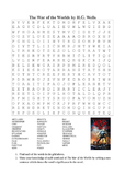 The War of the Worlds by H.G. Wells - Word Search Puzzle