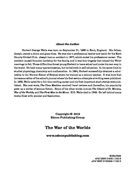 The War of theWorlds 10 Chapter Reader