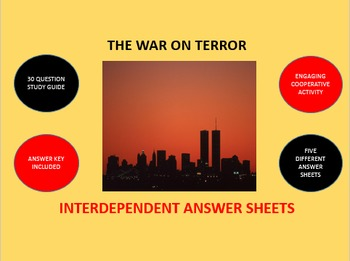 The War on Terror: Interdependent Answer Sheets Activity