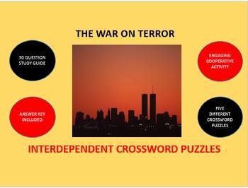 The War on Terror: Interdependent Crossword Puzzles Activity