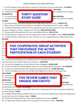 The War on Terror: Study Guide and Activity Pack