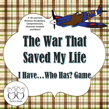 The War that Saved Me: I Have...Who Has? GAME