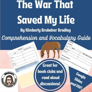 The War That Saved My Life Comprehension Questions and Vocabulary Guide