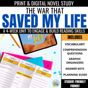 The War that Saved My Life Trifold Novel Study Unit