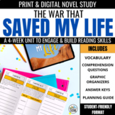 The War that Saved My Life Novel Study Unit