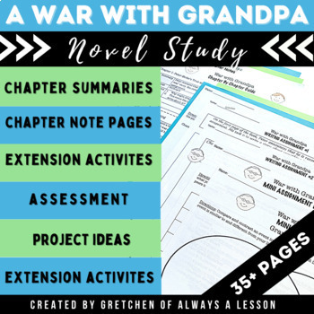"""""""The War with Grandpa"""" Novel Study Resource Guide"""
