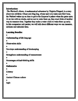 The Warlord's Alarm chinese story Math and Literacy Unit