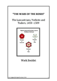 The Wars of the Roses English History & the first Tudor revision study booklet