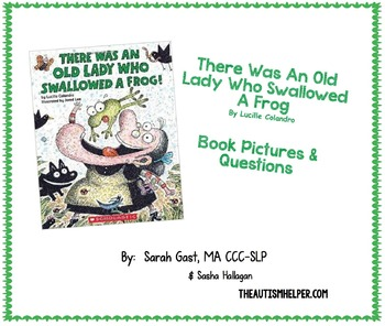 The Was an Old Lady Who Swallowed a Frog {Book Pictures &