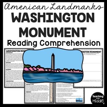 The Washington Monument Reading Comprehension; American Landmark; Washington DC