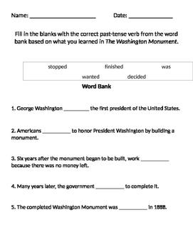 The Washington Monument Worksheet