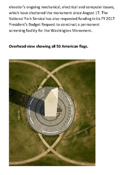 The Washington Monument with activities