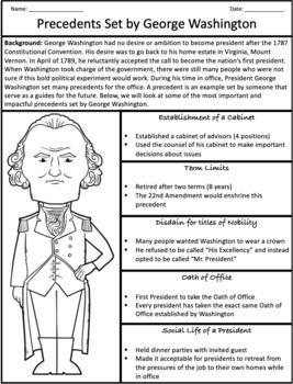 George Washington's Cabinet and Hamilton's Financial Plan: Graphic Organizer