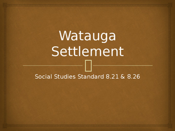 The Watauga Settlement in Tennessee