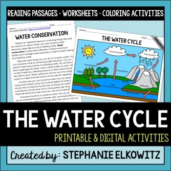 The Water Cycle, Water Pollution and Water Conservation