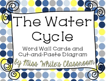 The Water Cycle - A Cut-and-Paste Diagram and Word Wall Cards! Print and Go!