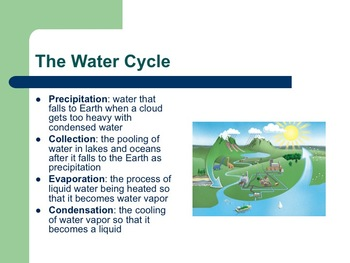 The Water Cycle- A Laboratory Experience Lesson Plan AND PowerPoint Presentation