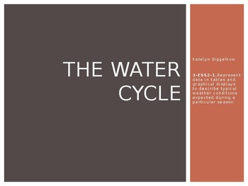 The Water Cycle Activity and Presentation