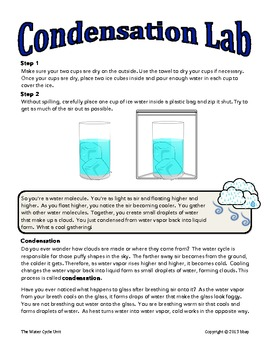 The Water Cycle Adventure, 3-Day Unit