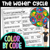 The Water Cycle Color By Number or Quiz