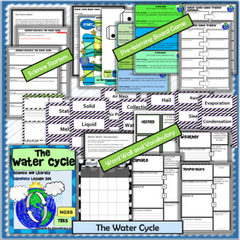 The Water Cycle Complete Lesson Set Bundle (NGSS & TEKS)