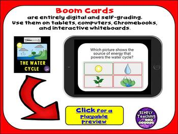 The Water Cycle Digital Boom Cards (task cards) no-prep paperless review