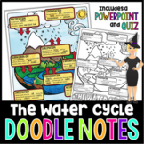 THE WATER CYCLE SCIENCE DOODLE NOTES, INTERACTIVE NOTEBOOK, MINI ANCHOR CHART