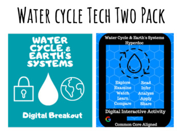The Water Cycle & Earth's Systems Tech Two Pack: Digital Breakout and Hyperdoc