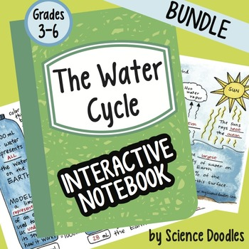 Doodle Notes -  FREE! The Water Cycle Interactive Notebook BUNDLE FREEBIE!