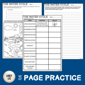 The Water Cycle - Guided Reading + Worksheets