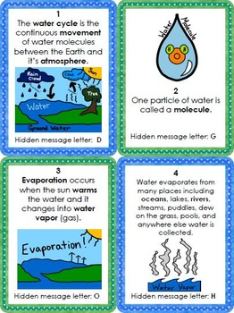 Water Cycle Activity - Scavenger Hunt