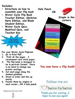 The Water Cycle Interactive Flip Book and Quiz