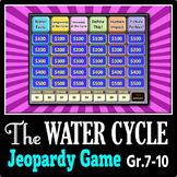 The Water Cycle - Jeopardy PowerPoint Game {Editable}