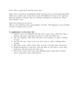 The Water Cycle Lesson Plan