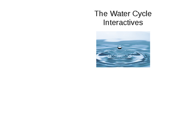 The Water Cycle Online Animations Notes & Questions - Notebook Insert