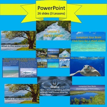 The Water Cycle: PPT, Structured Notes, Interactive NB, & Assessment