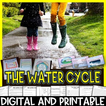 The Water Cycle Pack Interactive Notebook, Editable PowerPoint, Printables