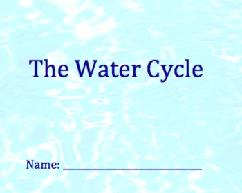 The Water Cycle Packet