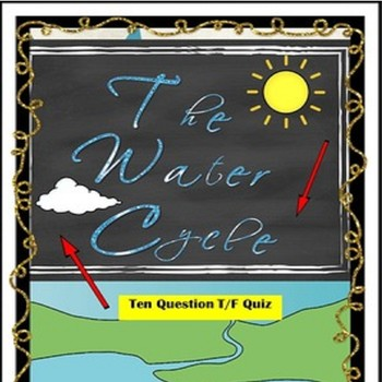 The Water Cycle Quiz Special Education/Autism/ODD/ID/VI/ESL