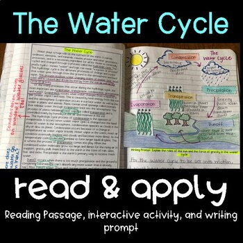 The Water Cycle Read and Apply (NGSS MS-ESS2-4)