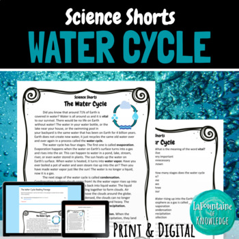 Water cycle reading passages teaching resources teachers pay teachers the water cycle reading comprehension passage the water cycle reading comprehension passage ibookread ePUb