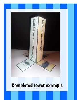 The Water Cycle Science Interactive Tower Foldable