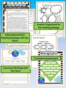 The Water Cycle Science and Literacy Lesson Set (TEKS & NGSS)