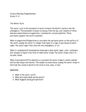 The Water Cycle (Science/Reading Comprehension Grade 4 - 6)