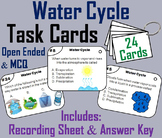 The Water Cycle Task Cards: Precipitation, Condensation, Evaporation, etc.