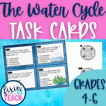 Sun source of energy teaching resources teachers pay teachers the water cycle task cards qr code answers fandeluxe Choice Image