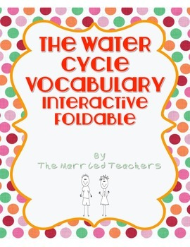 The Water Cycle Vocabulary Science Interactive Foldable