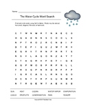 The Water Cycle Word Search (Grades 2-4)