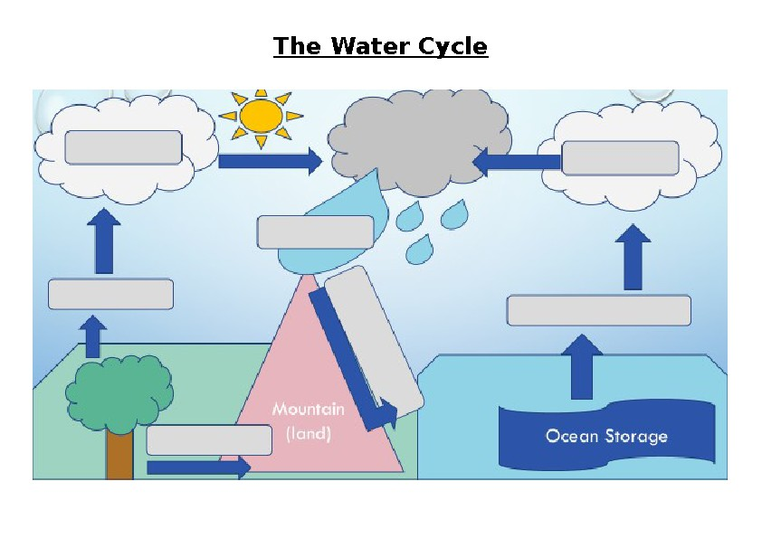 The Water Cycle Worksheet And Answers By Miss Doherty Tpt