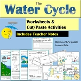 Water Cycle Worksheets Cut and Paste Activities Jigsaw Puzzles